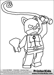 Lego Girl Coloring Page Batman Birthday