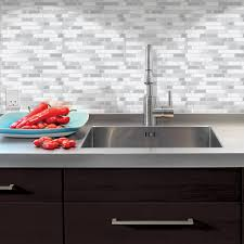 Peel And Stick Groutable Tile Backsplash by Diy Small Bathroom Remodel With A Smart Tiles Peel And Stick