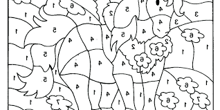 Color By Number Coloring Sheets Numbers Pages Difficult For