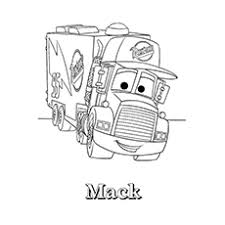 Mack Truck Mater The Coloring Sheet