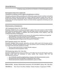 Cover Letter For Personal Assistant To Ceo Elegant Executive Sample Resume New Example