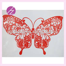 Chinese Homemade Traditional Paper Cut Folk Arts Wall Decoration With Beautiful Butterfly Home JZ