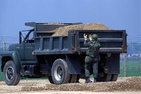 100 Dump Truck Drivers Staff Sergeant SSGT John Santos 254th Civil Engineering Flight