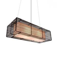 Rectangular Outdoor Hanging Lamp by Hive
