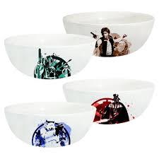 wars 6 inch ceramic bowl 4 pack set