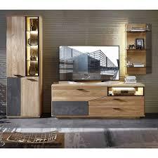 wohnzimmer anbauwand modern wokenva 3 teilig