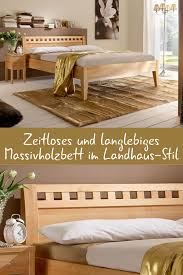 massivholzbett aus naturfarbener buche oder kernbuche