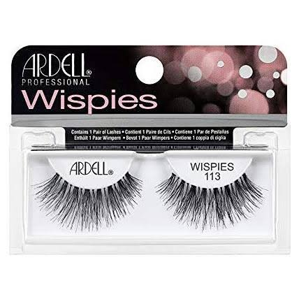 Ardell Wispies Fake Eyelashes - 113 Black, 1g