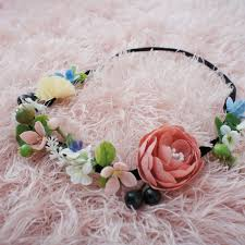Tiny Wild Flower Wreath Floral Corolla for Baby Flower Crown