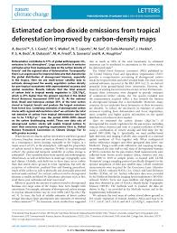 Define Carbon Sink Geography by Estimated Carbon Dioxide Emissions From Tropical Deforestation