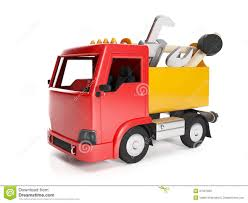 Truck And A Box Of Tools, Stock Illustration. Illustration Of ...