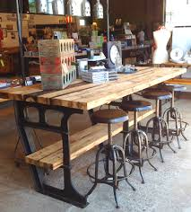 Kitchen Metal And Wood Table On In Vintage Tables Chairs 3
