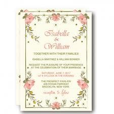 Cheap Print Floral Spring Rustic Wedding Invitation WIP001