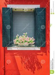 100 Houses F Picturesque Windows With Shutters On Red Wall Of On