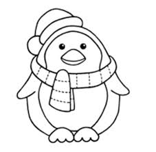 Winter Penguin Who Is Steady And Cool Coloring Page