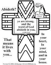 Bible Coloring Strength 14