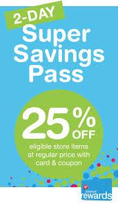 2-Day Super Savings Pass | Walgreens