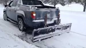 Receiver Hitch Reverse Pushing Snow Plow - YouTube