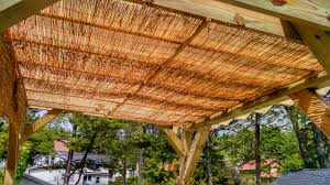 Does Menards Sell Lamp Shades by Extra Shade For Pergola We Used 4x8 Woven Reed Fencing From