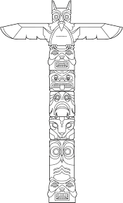 Free Coloring Pages Totem Pole BRAIDING N SUCH Coloriage