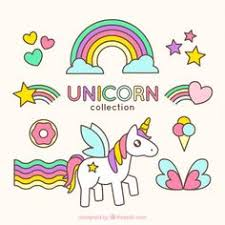 Desenho Bonito Do Unicornio Com Acessorios Encantadores Unicorn IllustrationCute