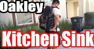 Oakley Kitchen Sink Backpack Stealth Black by Oakley Back Pack Kitchen Sink Product Review Youtube