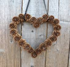 Instant Download Wall Decor DIY Heart Shaped Pine Cone Wreath Make Your Own Rustic Wedding Indoor