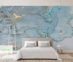 bacal ziegel marmor muster tapete wandbild 3d für wohnzimmer tapeten wohnkultur gold blau wandmalereien rollen 5d tapete aufkleber
