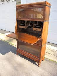 Drop Front Secretary Desk Antique by Antiques By Design Barristers Bookcase Drop Front Desk Antique