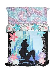 disney the little mermaid ariel silhouette full queen comforter