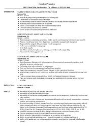 Related Job Titles Restaurant Manager Resume Sample