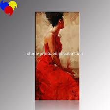elegante frauen malen kunst rotes kleid frauen wand dekoration großhandel wohnzimmer gemälde buy elegante frauen malerei kunst roten kleid frauen