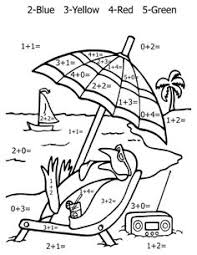 Printable Colouring Worksheets For Grade 1 With Worksheet 778604 Math Coloring Summer
