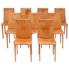 Set Of Nine Full Leather Italian Dining Chairs | My 1stdibs ...