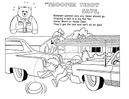 Safety Colouring Sheets Idaho State Police Road