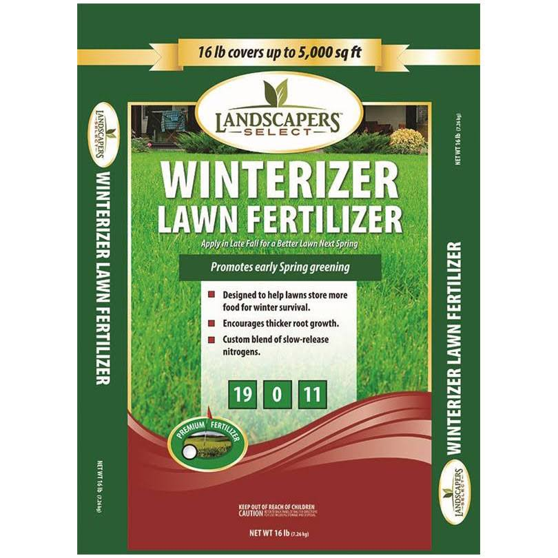 Landscapers Select 902733 Winterizer Lawn Fertilizer - 16 lb bag