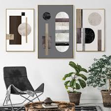 100 Contemporary Scandinavian Design Modern Abstract Geometric Nordic Wall Art Marble And Wood Style Home Decor Fine Art Canvas Prints