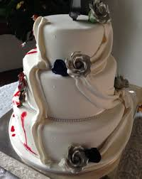Photo Supplied The Zombie Wedding Cake Looked More Traditional On One Side And Bloody Gruesome