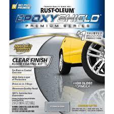 Behr Garage Floor Coating Vs Rustoleum by Rust Oleum Epoxyshield 90 Oz Clear High Gloss Low Voc Premium