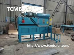 tcm baler wood shavings compress packing compactor machine