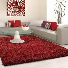 edler wohnzimmer schlafzimmer teppich shaggy rot rund