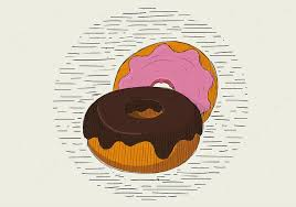 Free Vector Hand Drawn Donut Illustration