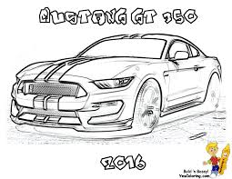 Muscle Car Coloring 2016 Shelby Mustang GT 350 At YesColoring