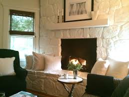Fireplace Cool Painted Stone Fireplace Home Design Ideas