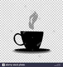 Black Silhouette Of Tea Or Coffee Cup With Smoke Isolated On Transparent Background Vector Illustration Icon Logo Sign Symbol Hot Beverage Mu