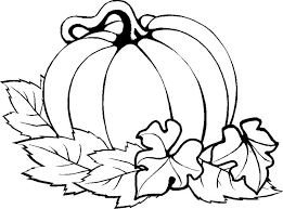 Pumpkin Leaves Coloring Pages More
