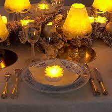 décoration et lumière pour une table de noël nos décors de table