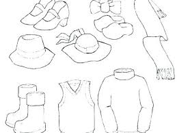 Winter Clothes Coloring Pages Page Preschoolers