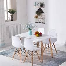 esstisch mit 4 stühlen weiß esszimmer essgruppe 110x60x75cm weiß für esszimmer essgruppe weiß