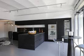 classic black kitchen design ideas with track lighting and black